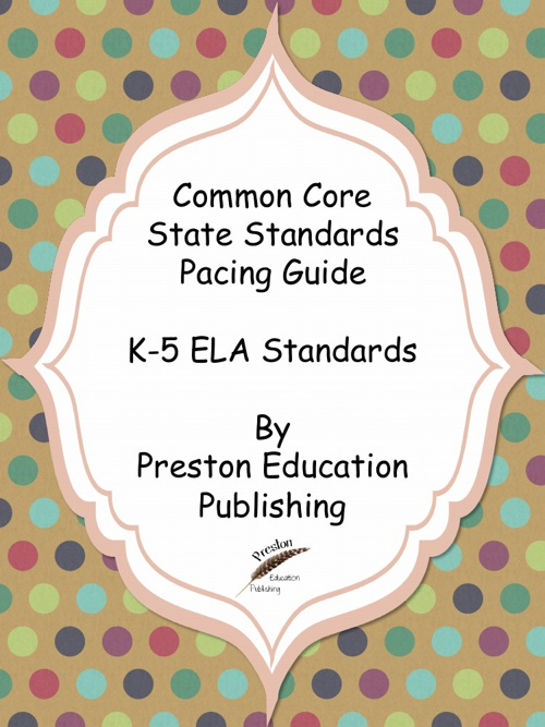 Common Core K-5 Pacing Guides Sampler