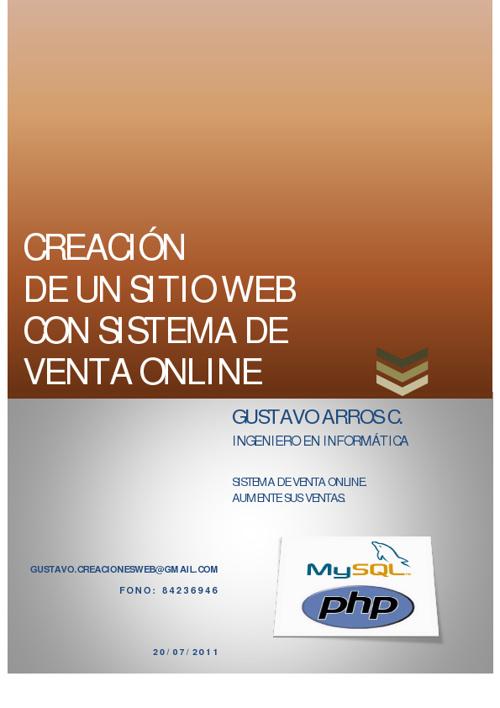 PROYECTO WEB GUSTAVO ARROS 2012