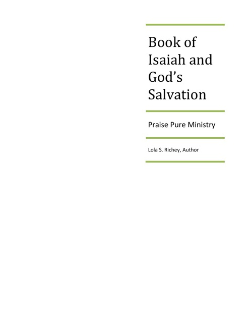 Book of Isaiah and God's Salvation