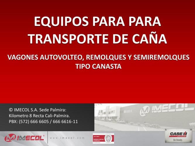 PRESENTACION EQUIPOS TRANSPORTE CAÑA