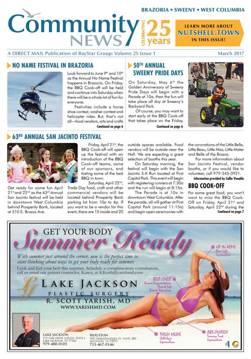 Brazoria-Sweeny-West Columbia Community News Volume 25 Issue 1
