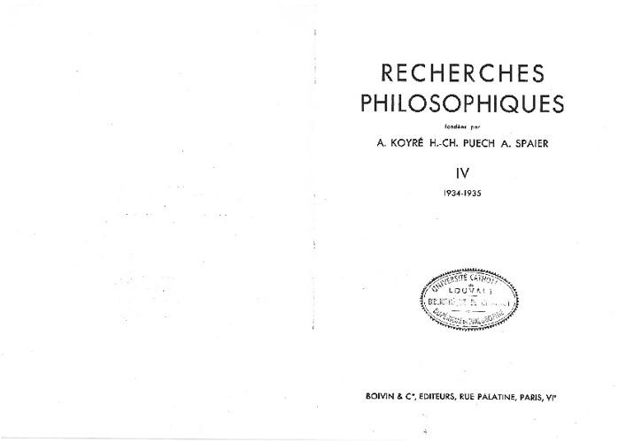DRAGHICESCO - Compte-rendus, recherches philosophiques, t.3