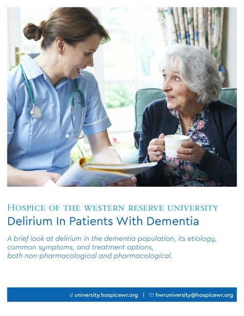 Delirium In The Dementia Patient
