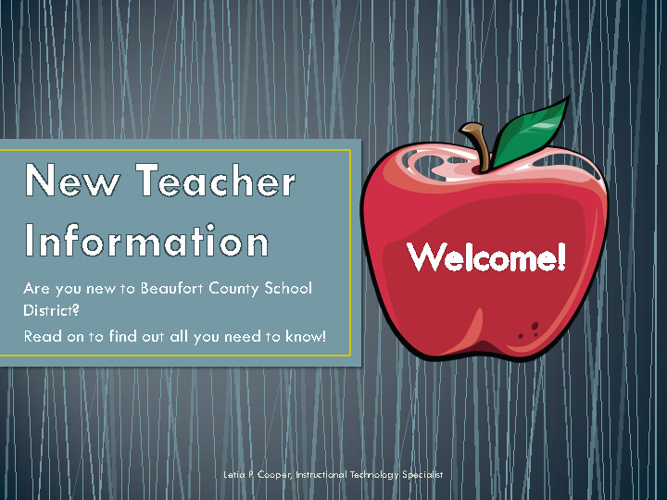 Technology for New Teacher