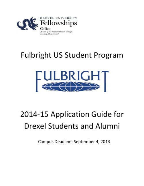 Fulbright Application Guide