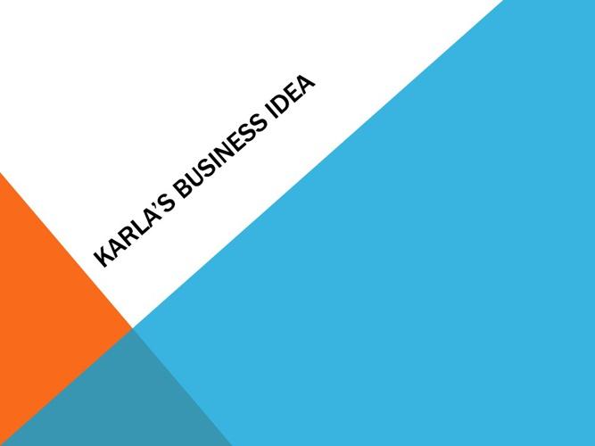 Karla's Buisness Ideas