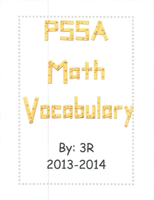 PSSA Math Vocabulary