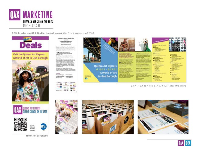 Marketing and Communications Tearsheet for Queens Art Express Fe