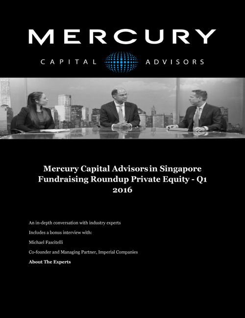 Fundraising Roundup Private Equity - Q1 2016