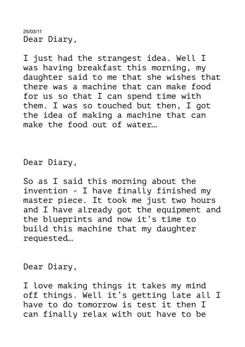 Diary of an inventor