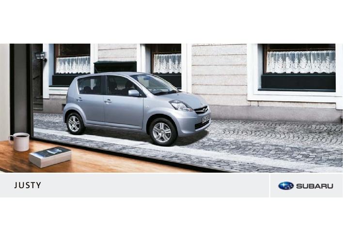 2010 Subaru Justy brochure NL