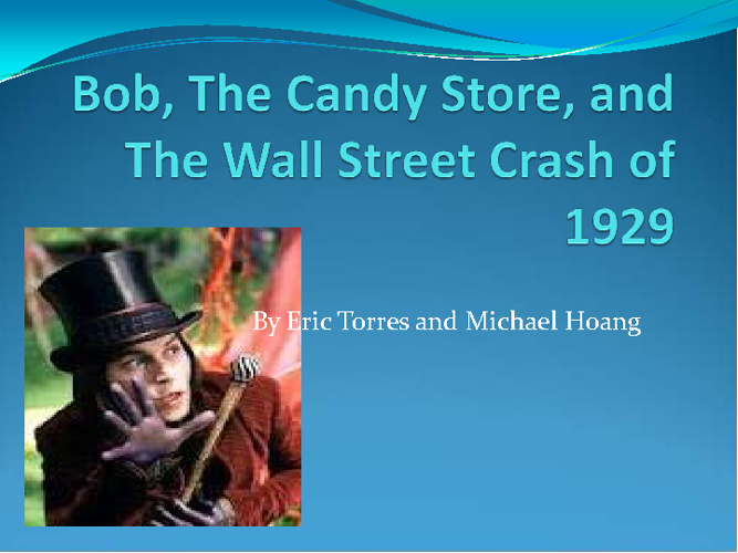 Bob and The Candy Store