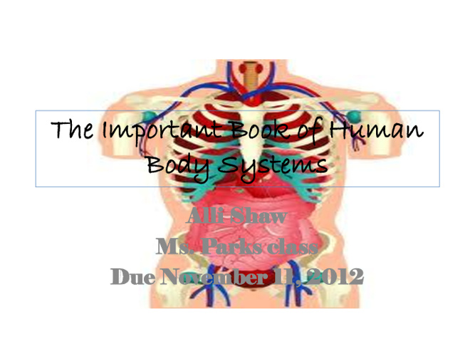 Human Body Important Book