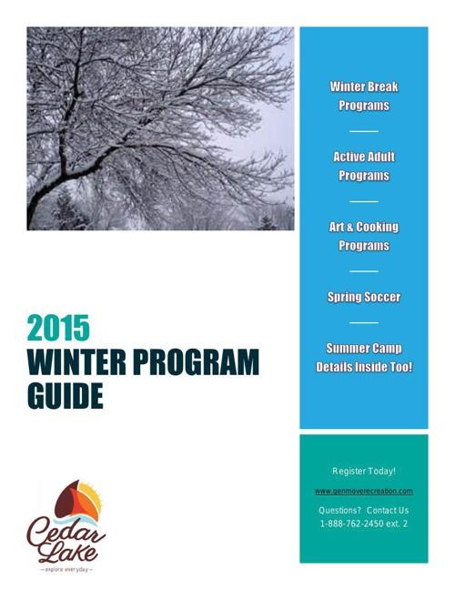 2015 Winter - Cedar Lake Recreation Brochure