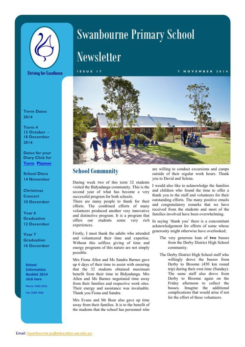 Newsletter Term 4              7.11.14