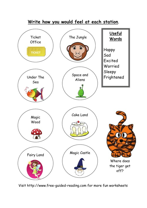 16 Magic Train Thinking Worksheets