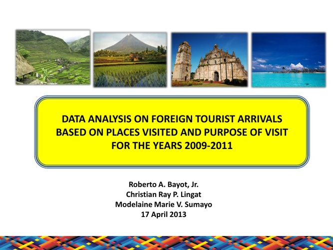 MANSTAT Research Paper on Tourism (Presentation)