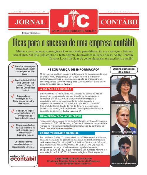 Jornal Contábil - Novembro 2011