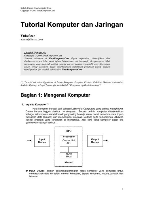 tutorial komputer dan jaringan