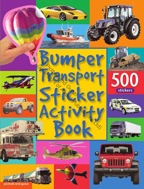 Bumper Sticker Activity Book Transport
