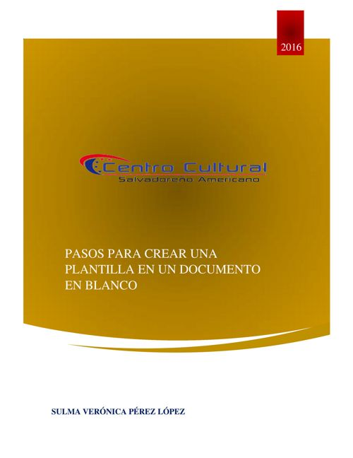 plantilla enun documento
