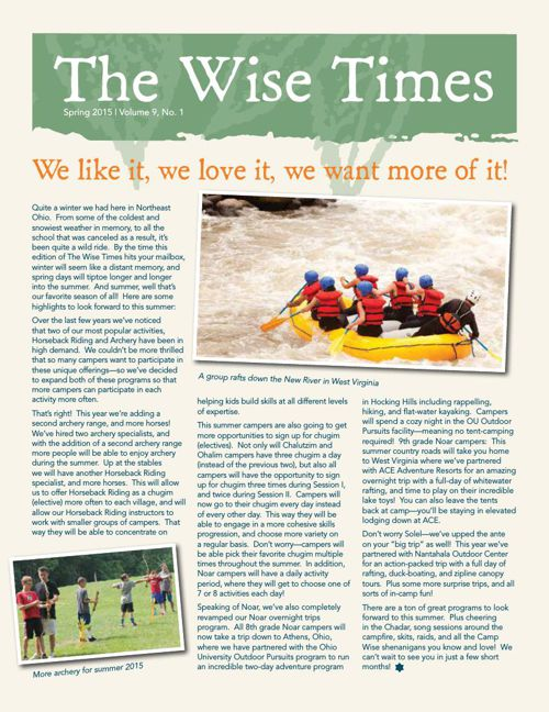 The Wise Times Spring 2015