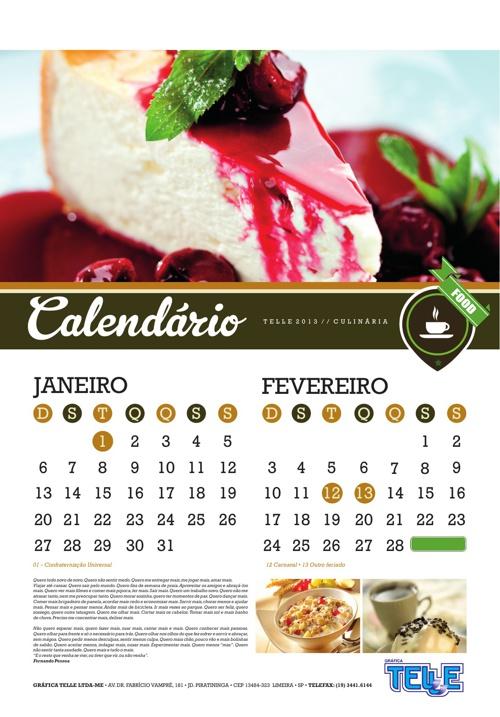Calendario Telle 2013