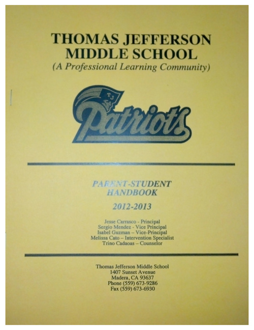 Parent/Student Handbook 2012/2013