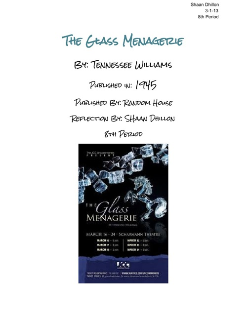 The Glass Menagerie Reflection