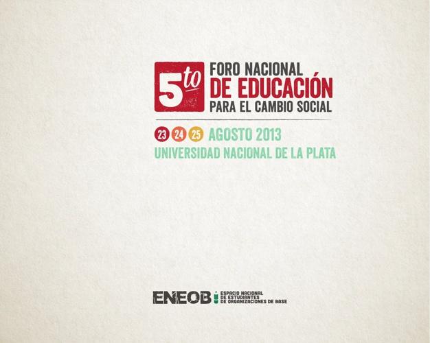 V FORO NACIONAL DE EDUCACION PARA EL CAMBIO SOCIAL