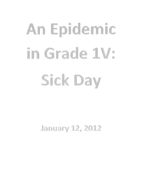 Epidemic in 1V - Volume 1