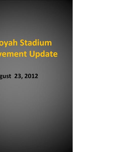 Stadium Improvements