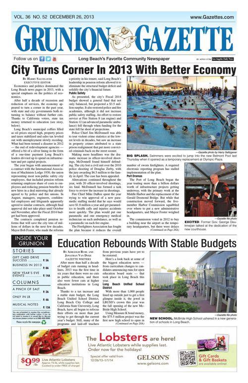 Grunion Gazette   December 26, 2013