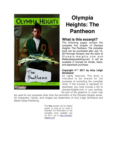 Olympia Heights: The Pantheon (Excerpt)
