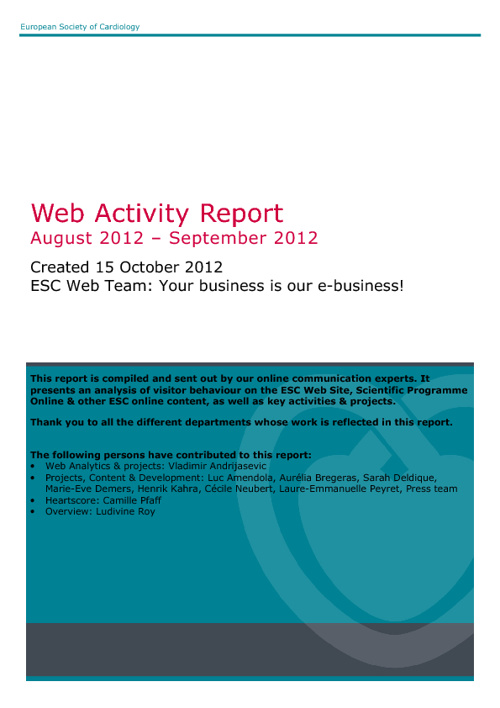 Web report august 2012