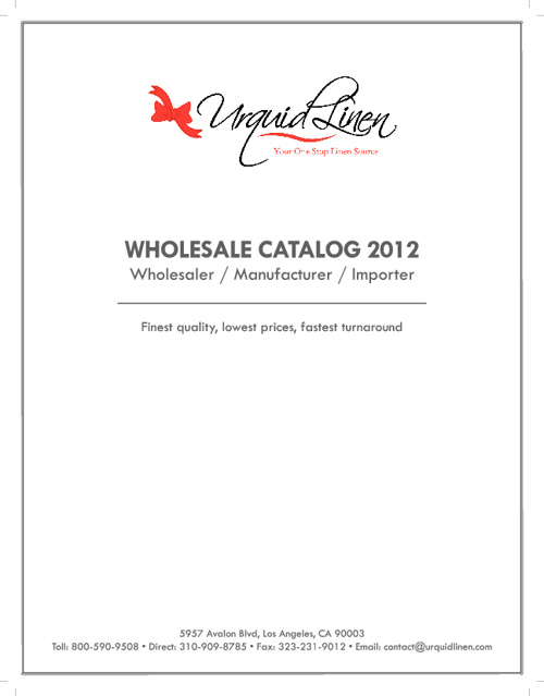 Urquid Linen Catalog 2012