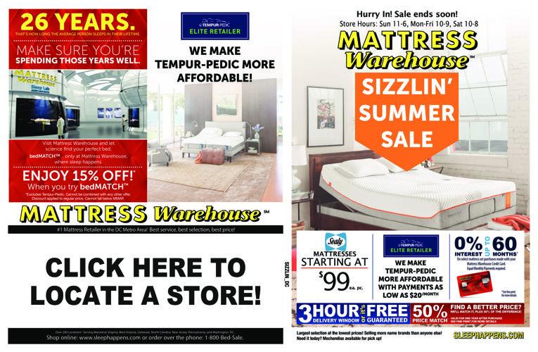 mattress warehouse summer sale