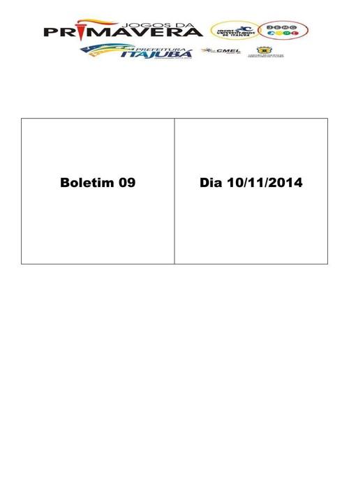 Boletim 09 Jogos de Primavera 2014