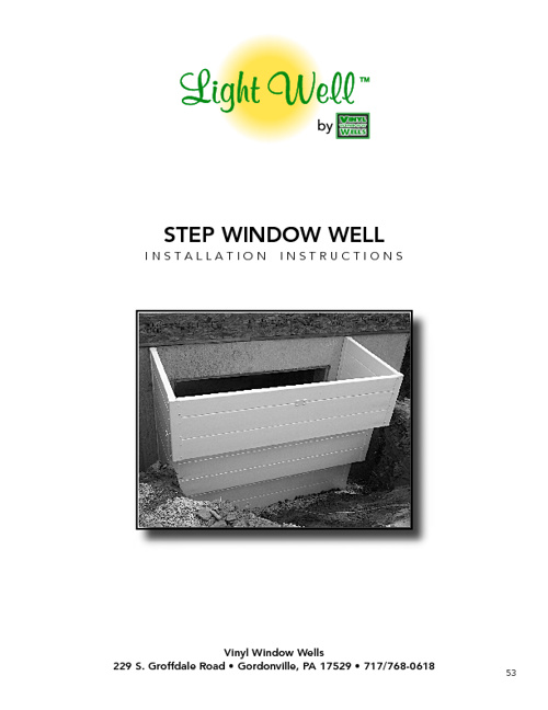 Step Window Well Installation