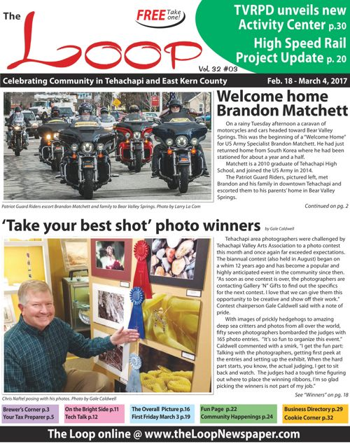The Loop Newspaper - Vol 32 No 03 - Feb 18 to March 4, 2017