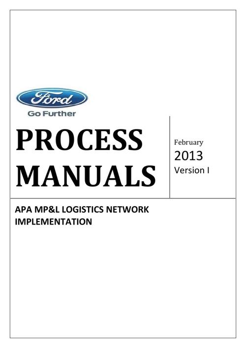 Process Manuals