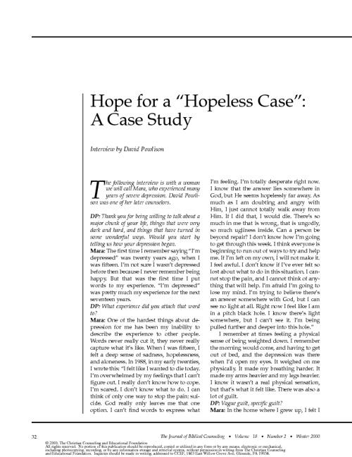 Depression Case Study