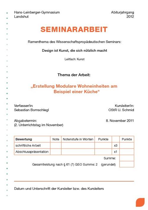 Seminararbeit: Erstellung modularer Wohneinheiten
