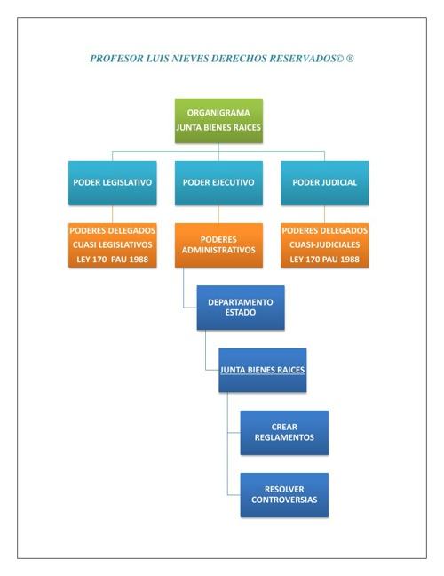 Diagrama Poderes Junta Bienes Raices