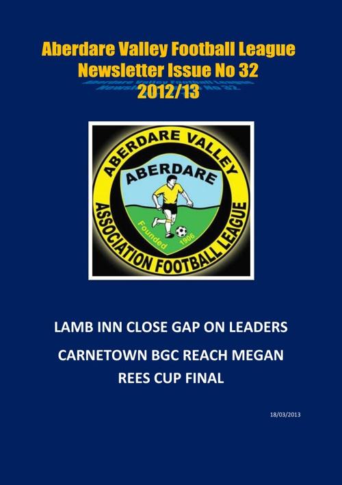 Aberdare Valley Football League Newsletter Issue 32