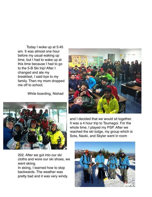 5B 2013 Ski Trip