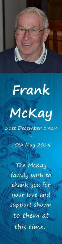 Bookmark for Frank McKay