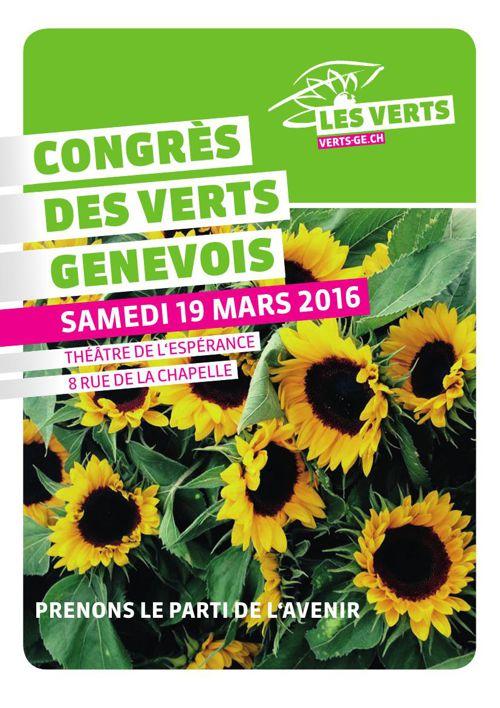 Brochure - Congrès du parti politique des Verts genevois - mars
