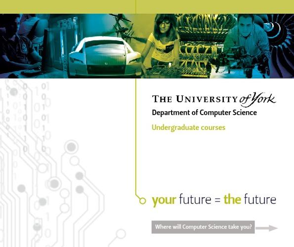 Computer Science undergraduate courses brochure