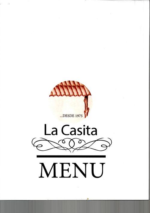 Menú Restaurante La Casita